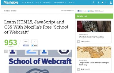 http://mashable.com/2010/12/17/learn-html5-javascript-and-css-with-mozillas-free-school-of-webcraft/