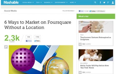 http://mashable.com/2010/12/17/foursquare-marketing-without-location/