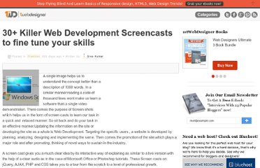 http://www.1stwebdesigner.com/freebies/web-development-screencasts/