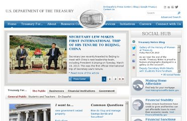 http://www.treasury.gov/Pages/default.aspx