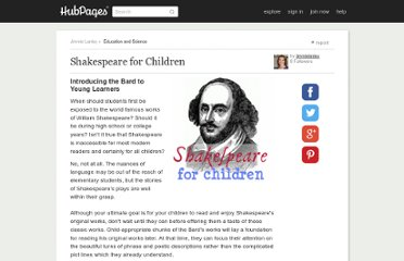 http://www.squidoo.com/shakespeareforchildren
