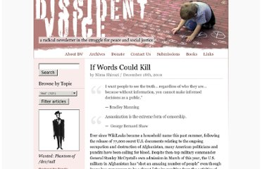 http://dissidentvoice.org/2010/12/if-words-could-kill/