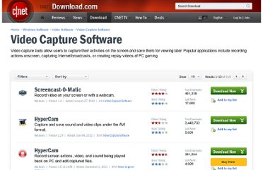 http://download.cnet.com/windows/video-capture-software/