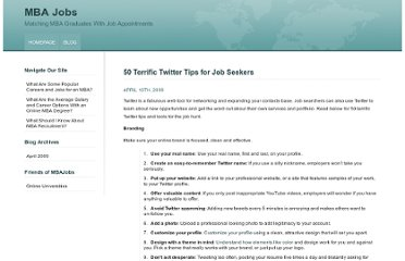 http://www.mbajobs.net/blog/2009/50-terrific-twitter-tips-for-job-seekers/