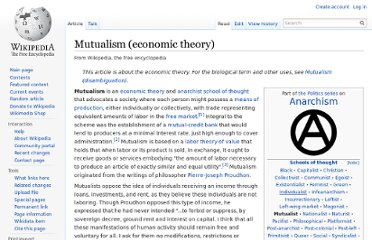 http://en.wikipedia.org/wiki/Mutualism_%28economic_theory%29