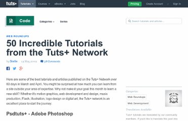 http://net.tutsplus.com/articles/web-roundups/50-incredible-tutorials-from-the-tuts-network/