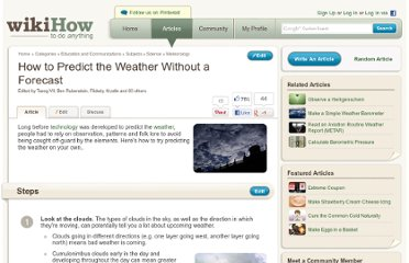 http://www.wikihow.com/Predict-the-Weather-Without-a-Forecast