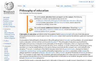 http://en.wikipedia.org/wiki/Philosophy_of_education