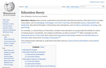 http://en.wikipedia.org/wiki/Education_theory