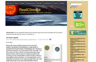 http://www.realclimate.org/index.php/archives/2006/05/al-gores-movie/