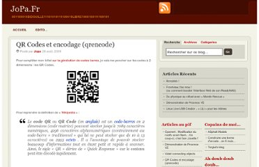 http://www.jopa.fr/index.php/2009/08/26/qr-codes-et-encodage-qrencode/#more-1758