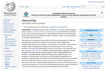 http://en.wikipedia.org/wiki/Ownership