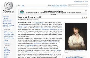 http://en.wikipedia.org/wiki/Mary_Wollstonecraft