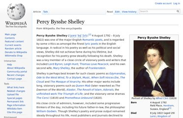 http://en.wikipedia.org/wiki/Percy_Bysshe_Shelley