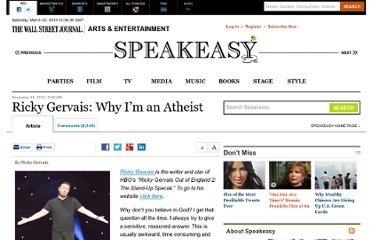 http://blogs.wsj.com/speakeasy/2010/12/19/a-holiday-message-from-ricky-gervais-why-im-an-atheist/
