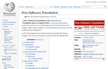 http://fr.wikipedia.org/wiki/Free_Software_Foundation