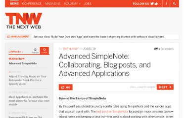 http://thenextweb.com/lifehacks/2010/12/20/advanced-simplenote-collaborating-blog-posts-and-advanced-applications/