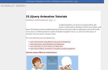 http://vandelaydesign.com/blog/web-development/jquery-animation-tutorials/