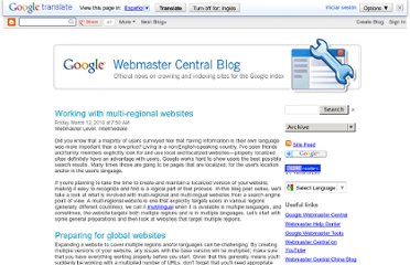http://googlewebmastercentral.blogspot.com/2010/03/working-with-multi-regional-websites.html