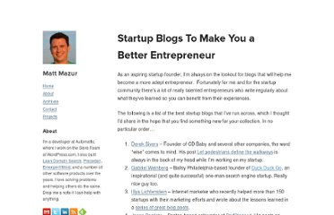 http://www.mattmazur.com/2010/12/17-startup-blogs-to-make-you-a-better-entrepreneur/
