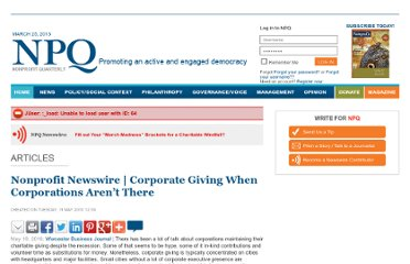http://www.nonprofitquarterly.org/index.php?option=com_content&view=article&id=2338:nonprofit-newswire-corporate-giving-when-corporations-arent-there&catid=155:daily-digest&Itemid=137