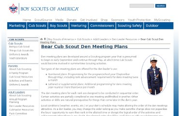 http://scouting.org/scoutsource/CubScouts/Leaders/DenLeaderResources/DenandPackMeetingResourceGuide/BearDenPlans.aspx