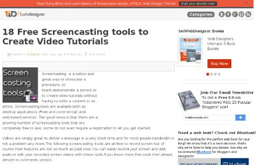 http://www.1stwebdesigner.com/freebies/free-screencasting-tools-video-tutorials/