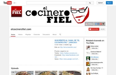 http://www.youtube.com/user/elcocinerofiel