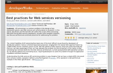 http://www.ibm.com/developerworks/webservices/library/ws-version/