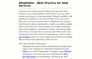 http://blog.whatfettle.com/2007/11/19/best-practice-for-web-services/
