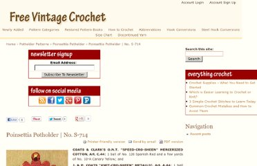Vtg 50s Potholders Crochet Patterns Strawberry Sombrero (Vintage