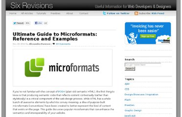 http://sixrevisions.com/web-development/ultimate-guide-to-microformats-reference-and-examples/