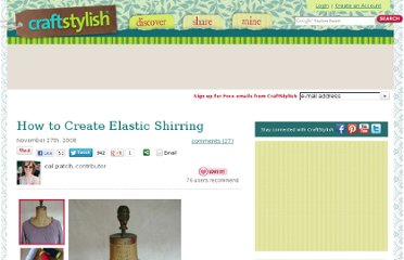 http://www.craftstylish.com/item/27550/how-to-create-elastic-shirring