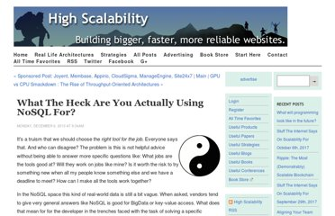 http://highscalability.com/blog/2010/12/6/what-the-heck-are-you-actually-using-nosql-for.html