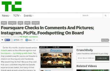 http://techcrunch.com/2010/12/20/foursquare-comments-pictures/