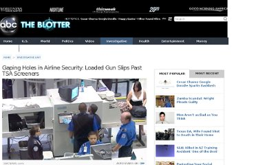 http://abcnews.go.com/Blotter/loaded-gun-slips-past-tsa-screeners/story?id=12412458