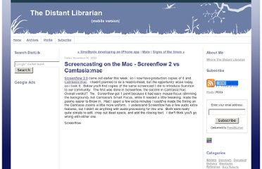 http://distlib.blogs.com/distlib/2009/11/screencasting-on-the-mac-screenflow-2-vs-camtasiamac.html