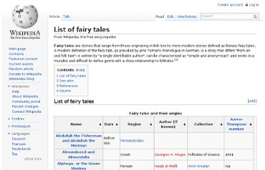 http://en.wikipedia.org/wiki/List_of_fairy_tales