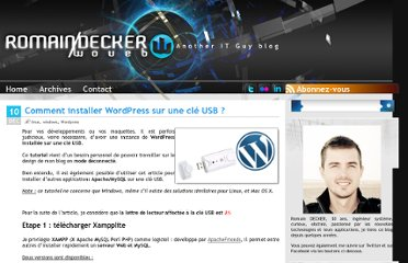 http://www.woueb.net/2007/12/10/comment-installer-wordpress-sur-une-cle-usb/