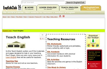 http://www.englishclub.com/teach-english.htm