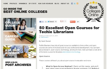 http://www.bestcollegesonline.com/blog/2009/06/19/50-excellent-open-courses-for-techie-librarians/