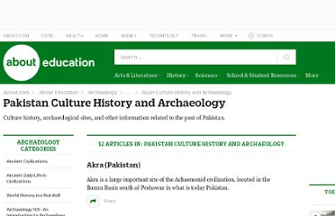 http://archaeology.about.com/od/pakistan/Pakistan_Culture_History_and_Archaeology.htm