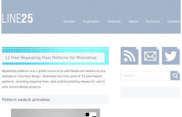 http://line25.com/articles/12-free-repeating-pixel-patterns-for-photoshop