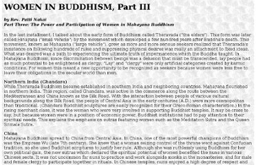 http://www.livingdharma.org/Living.Dharma.Articles/WomenInBuddhism3.html