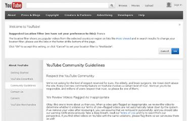 http://www.youtube.com/t/community_guidelines