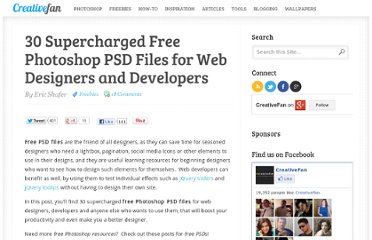 http://creativefan.com/30-supercharged-free-photoshop-psd-files-for-web-designers-and-developers/