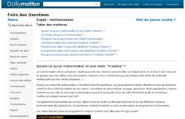 http://www.dailymotion.com/fr/faq#motionmaker