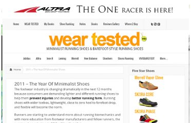 http://minimalistrunningshoes.org/runners-notes/2011-the-year-of-minimalist-shoes