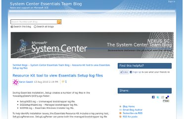 http://blogs.technet.com/b/systemcenteressentials/archive/2010/08/13/resource-kit-tool-to-view-essentials-setup-log-files.aspx