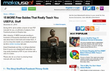 http://www.makeuseof.com/tag/15-free-guides-teach-stuff/